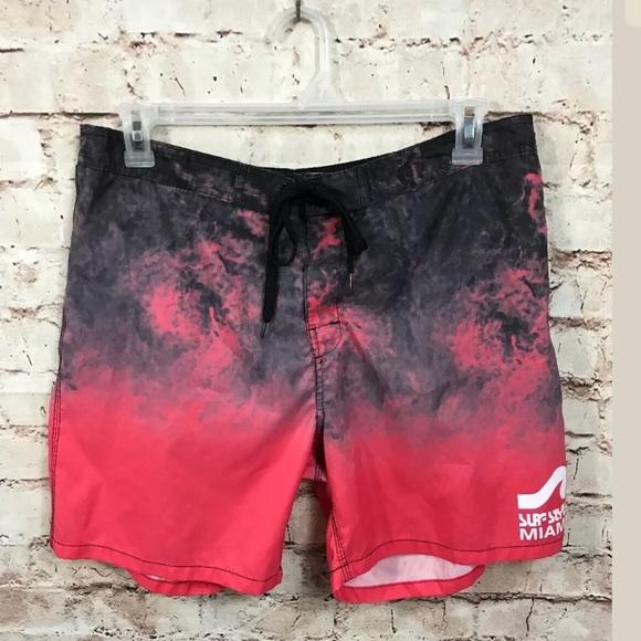 b4eed38be surf style Shorts | Miami Swim Xl Vintage Pink Lined | Poshmark